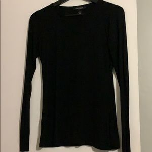 Black long sleeve, super soft tee. Sz XS. WHBM